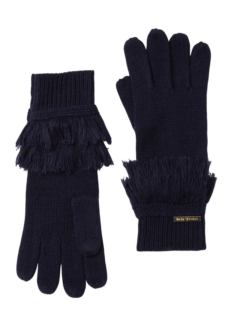 MICHAEL Michael Kors Fringe Knit Gloves
