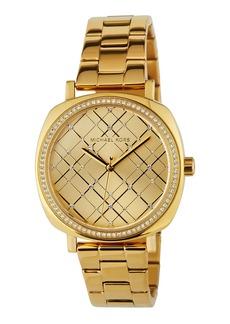 MICHAEL Michael Kors Geometric Crystal Watch w/ Bracelet  Golden