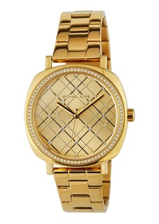MICHAEL Michael Kors Geometric Crystal Watch w/ Bracelet  Golden