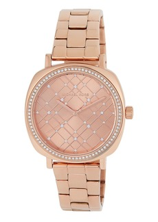 MICHAEL Michael Kors Geometric Crystal Watch w/ Bracelet  Rose