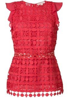 MICHAEL Michael Kors geometric floral lace top