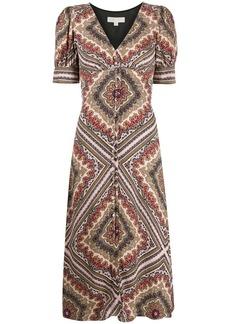 MICHAEL Michael Kors geometric-print midi dress