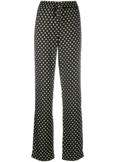 MICHAEL Michael Kors geometric-print straight trousers
