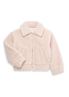 MICHAEL Michael Kors Girl's Faux Fur Teddy Jacket