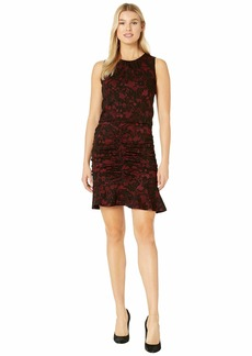 MICHAEL Michael Kors Glam Lace Jacquard Shirred Dress