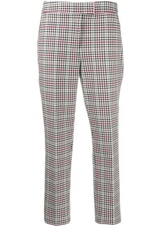 MICHAEL Michael Kors Glen checkered twill cropped trousers