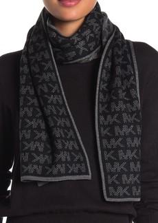 MICHAEL Michael Kors Grid Logo Knit Scarf