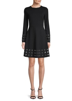 MICHAEL Michael Kors Grommet Embroidered A-Line Dress