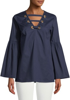 MICHAEL Michael Kors Grommet Lace-Up Tunic