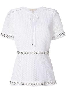 MICHAEL Michael Kors grommeted lace blouse