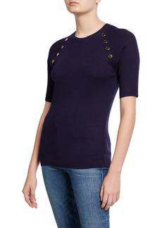 MICHAEL Michael Kors Half-Sleeve Raglan Sweater