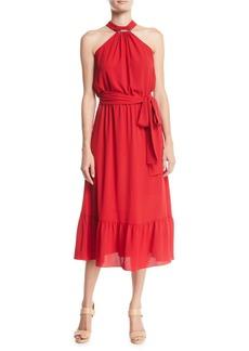 MICHAEL Michael Kors Halter Ruffle Dress