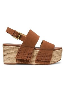 MICHAEL Michael Kors Hana Fringed Leather Platform Sandals