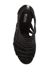 MICHAEL Michael Kors Harper Open Toe Nubuck Block Heel Sandal