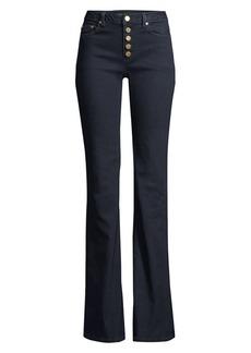 MICHAEL Michael Kors High-Rise Button Front Jeans