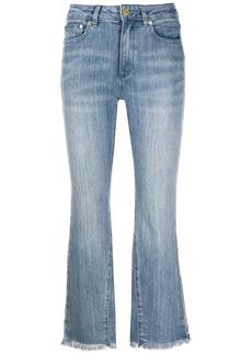 MICHAEL Michael Kors high-rise cropped kick-flare jeans