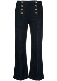 MICHAEL Michael Kors high-rise embossed-buttons cropped jeans