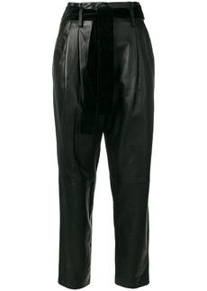 MICHAEL Michael Kors high-waisted pleated leather pants