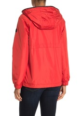 MICHAEL Michael Kors Hooded Logo Plush Lined Zip Jacket