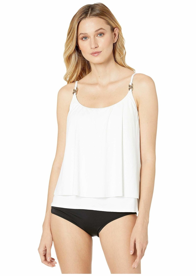 MICHAEL Michael Kors Iconic Solids Double Layer Tankini Top