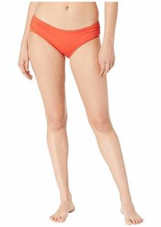 MICHAEL Michael Kors Iconic Solids Shirred Bikini Bottoms