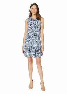 MICHAEL Michael Kors Ikat Sleeveless Flounce Dress