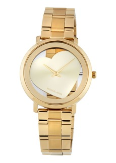 MICHAEL Michael Kors Jaryn 38mm See-Through Heart Watch  Golden