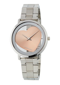 MICHAEL Michael Kors Jaryn 38mm See-Through Heart Watch  Steel/Pink