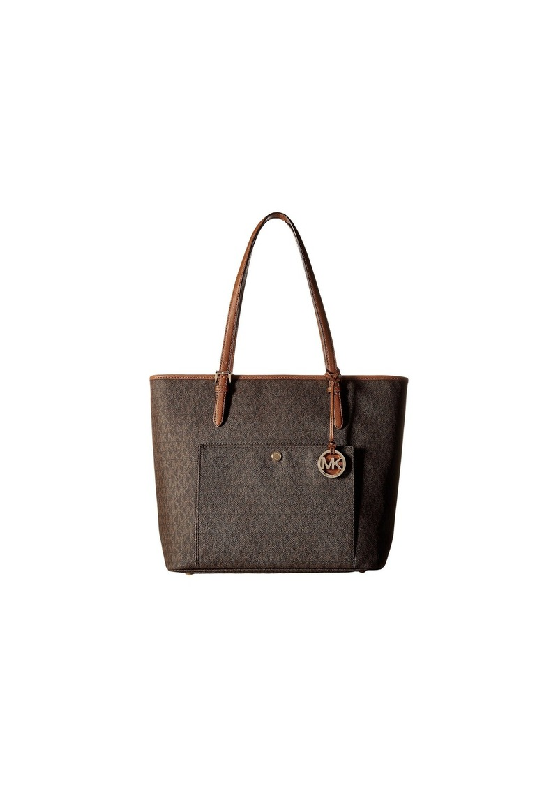 c21824298c14 MICHAEL Michael Kors Jet Set Item Large Top Zip Snap Pocket Tote ...