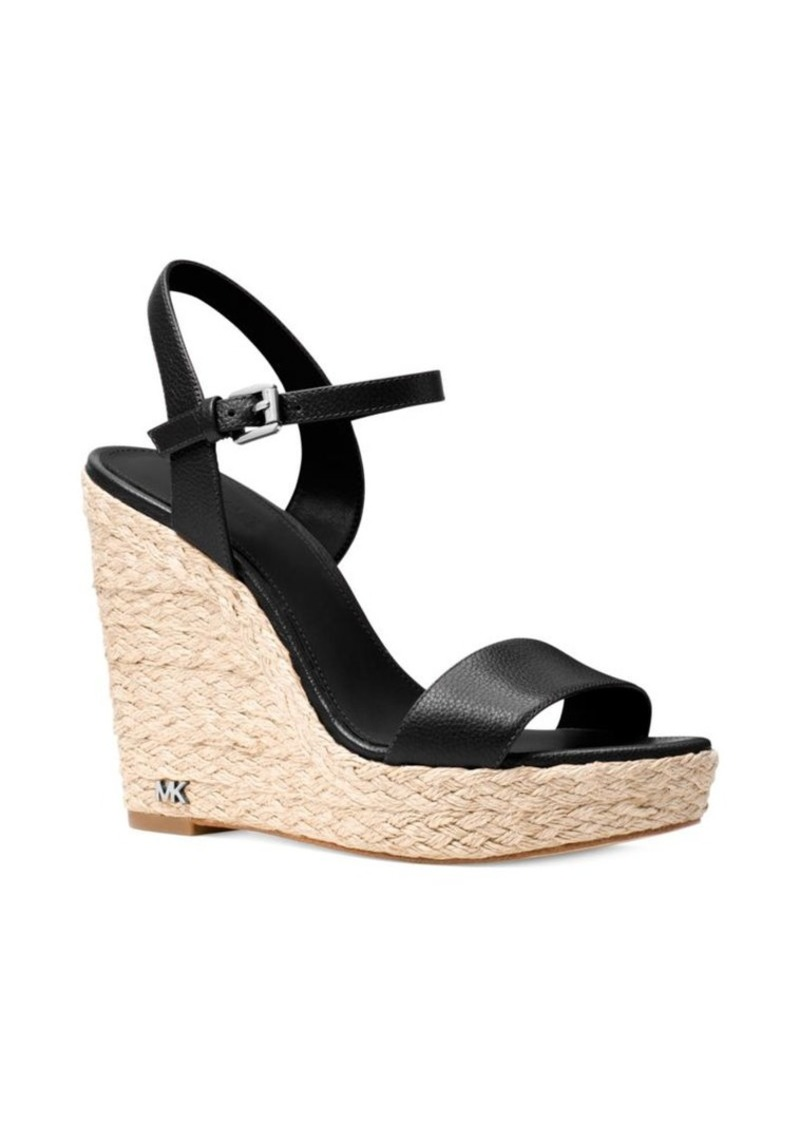 MICHAEL Michael Kors Jill Leather Wedge Sandals