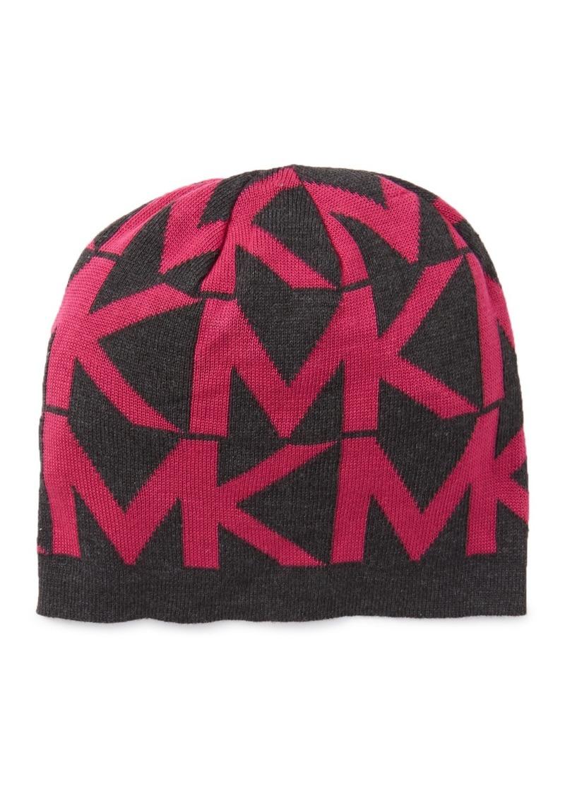 MICHAEL Michael Kors Jumbo Logo Knit Beanie