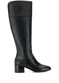 MICHAEL Michael Kors knee length logo plaque boots