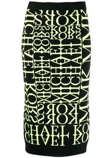 MICHAEL Michael Kors knitted pencil skirt