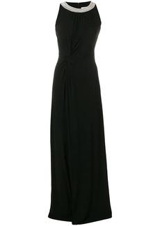 MICHAEL Michael Kors knot-detail halterneck gown