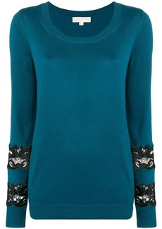 MICHAEL Michael Kors lace detail knitted sweatshirt