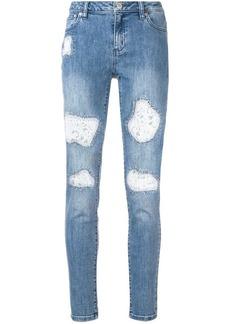 MICHAEL Michael Kors lace patch detailed jeans