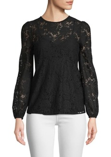 MICHAEL Michael Kors Lace Puff-Sleeve Top
