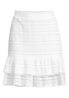 MICHAEL Michael Kors Lace Ruffle Mini Skirt