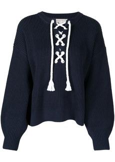 MICHAEL Michael Kors lace-up ribbed jumper