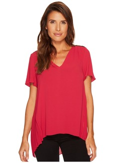 MICHAEL Michael Kors Lace Yoke Pleated Back Top