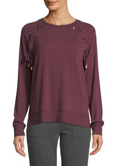 MICHAEL Michael Kors Laced Raglan Pullover Sweater