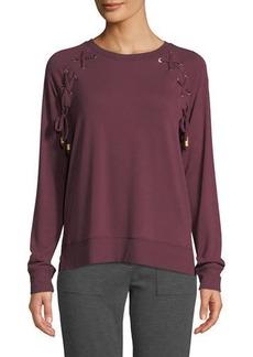 MICHAEL Michael Kors Laced Raglan Pullover Sweater