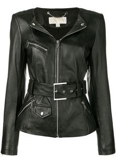 MICHAEL Michael Kors lambskin biker jacket