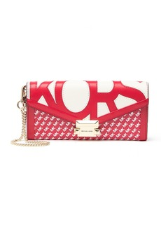 MICHAEL Michael Kors Large Leather Chain Envelope Wristlet