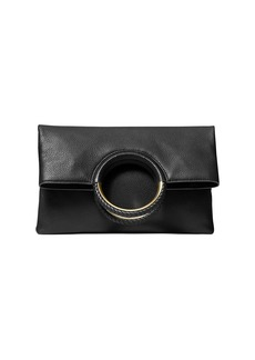 MICHAEL Michael Kors Large Rosie Foldover Leather Ring Clutch