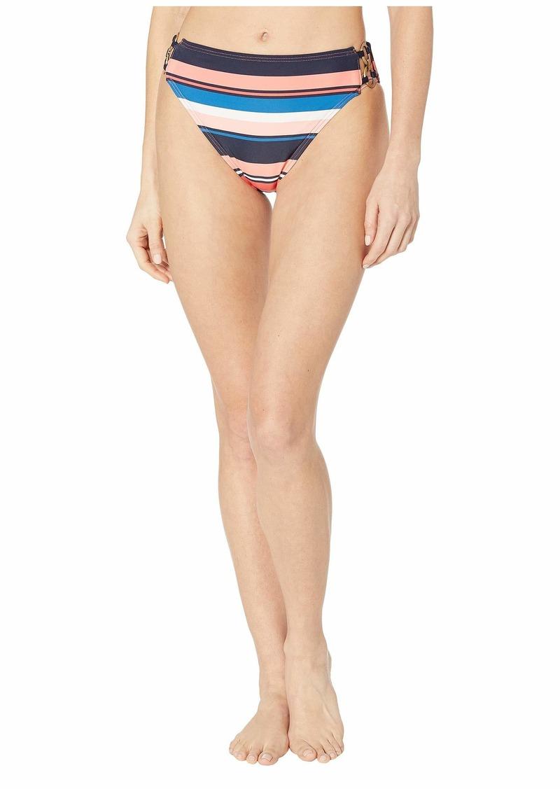 MICHAEL Michael Kors Large Stripe High-Waist Bikini Bottoms