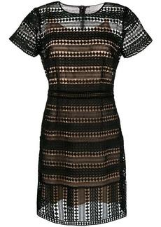 MICHAEL Michael Kors layered cut out detail dress