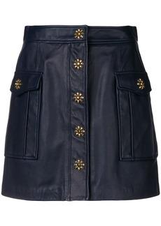 MICHAEL Michael Kors leather cargo skirt