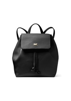 MICHAEL Michael Kors Leather Flap Backpack
