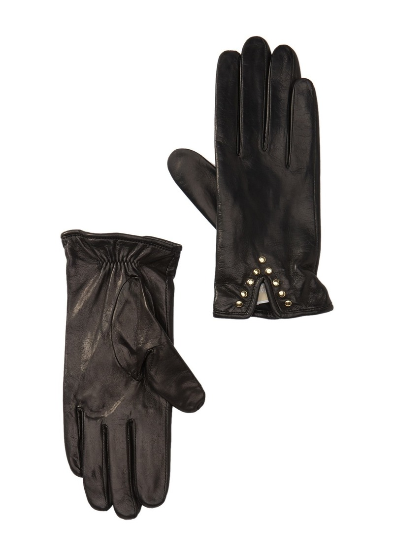 MICHAEL Michael Kors Leather Studded Gloves